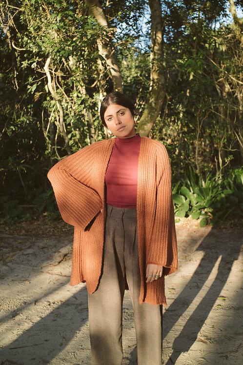Kimono Tricot Olga - cor tangerina