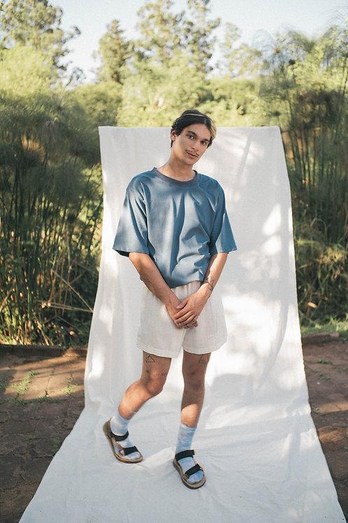 Camiseta oversized mirtilo