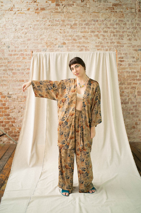 kimono Antiquário - tecido da bisa