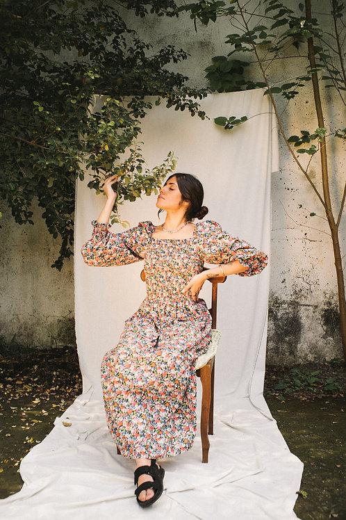 Vestido Maria Liberty Rosa