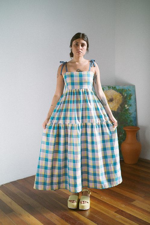 Vestido Petúnia Xadrez Jujubas