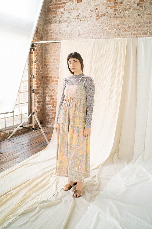 Vestido Petúnia - geométrico vintage