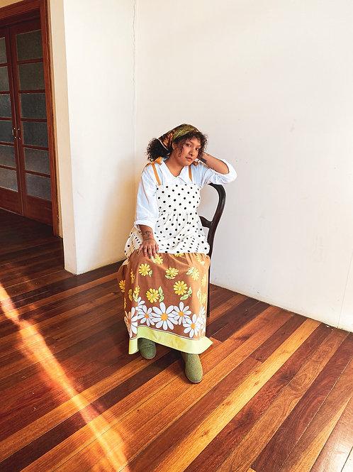 Vestido Petúnia Poá Vintage