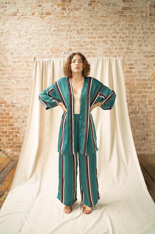 kimono Antiquário - tecido Coralina