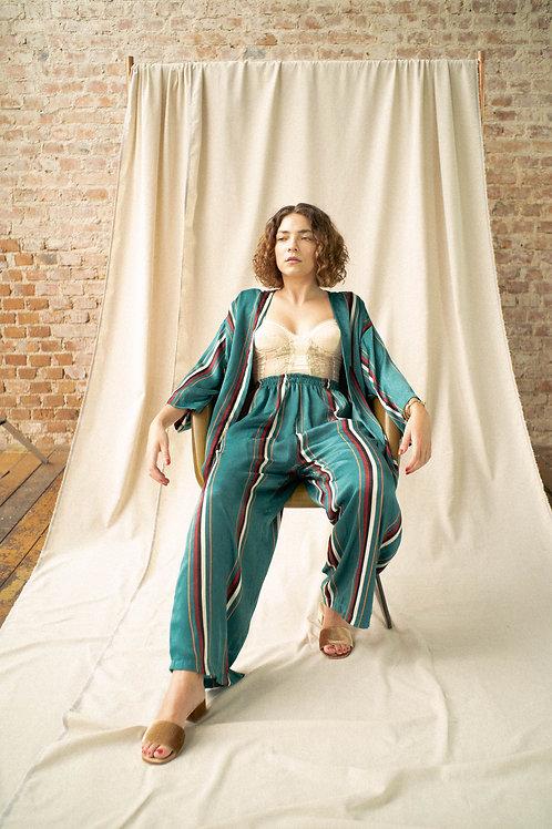 Pantalona Antiquário - tecido Coralina