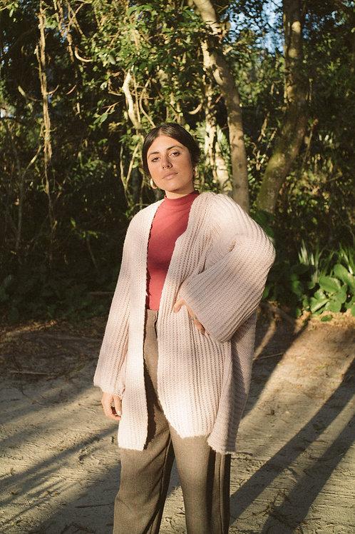 Kimono Tricot Olga - cor rosa pastel