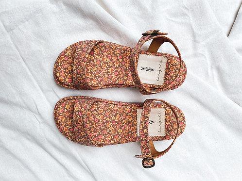 Sandália Eleonora - floral campestre