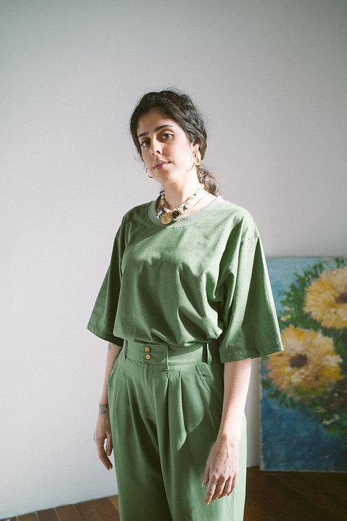 Camiseta oversized Verde Mate
