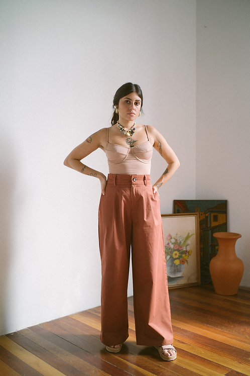 Pantalona Hibisco Argila