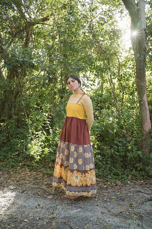 Vestido Petúnia Daisy Vintage