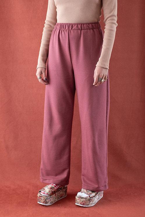 Pantalona Lunar - moletom terracota