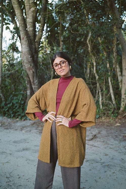 kimono Antiquário - mostarda