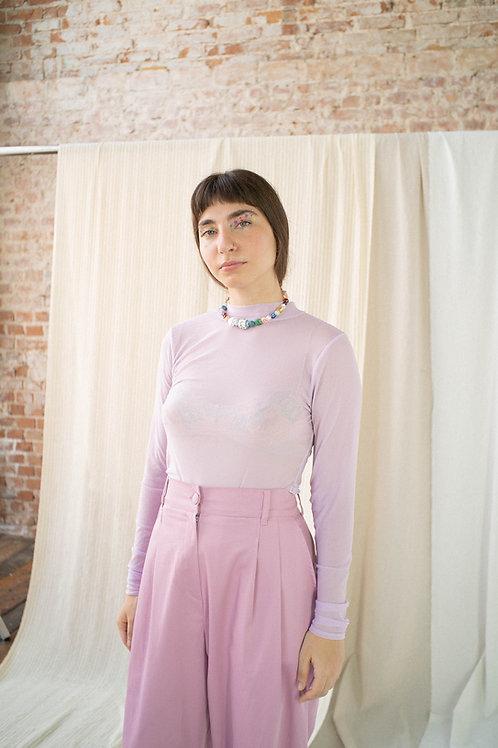 Blusa tule lilás
