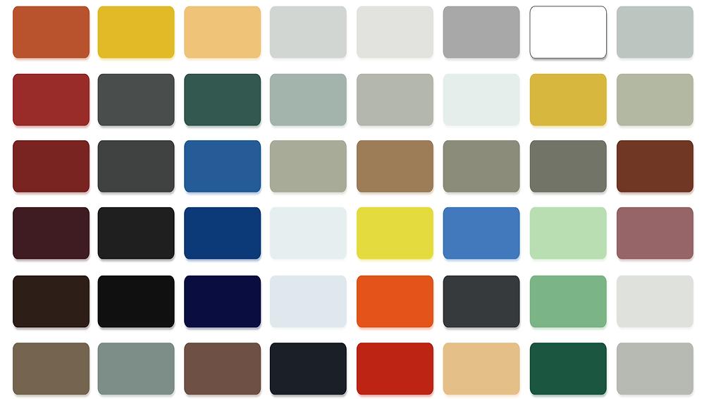 Pallete de couleur standard Panneau composite en aluminium