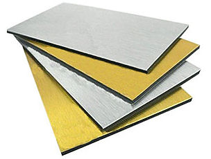Panneau composite en aluminium brossé