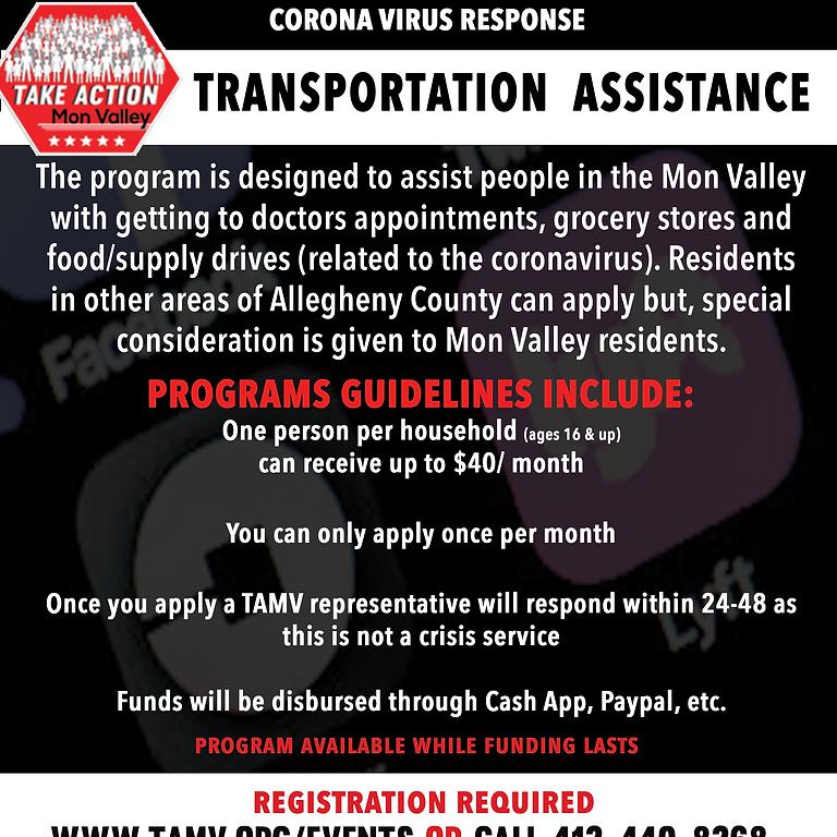 July TAMV Transportation Assistance Program (not a crisis program)