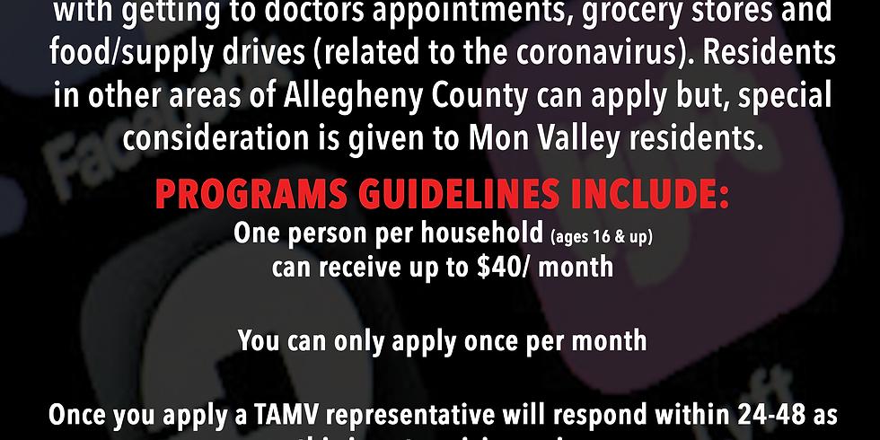 April TAMV Transportation Assistance Program (not a crisis program)