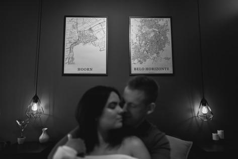 Indoor couple photoshoot in Amsterdam