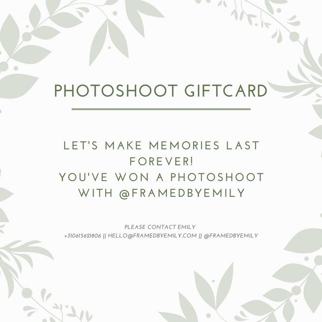 Photoshoot Giftcard