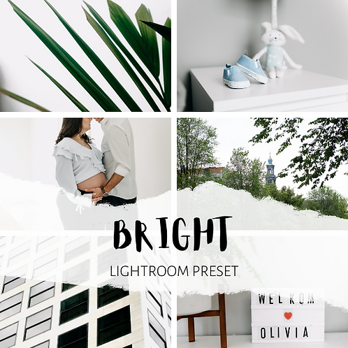 Bright Lightroom Preset (Mobile + Desktop)