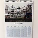 Amsterdam Calendar framed by emily store