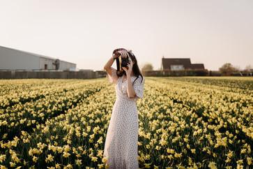 Flower field portrait