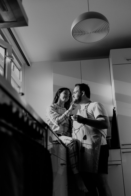 Indoor couple photoshoot