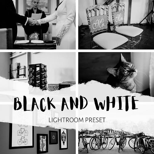 Black and White Lightroom Preset (Mobile + Desktop)