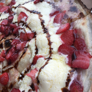 Balsamic Strawberry Dessert Pizza