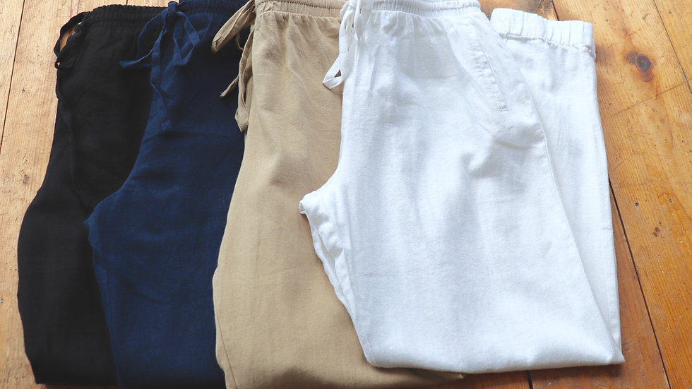 Jogger Linen Pants