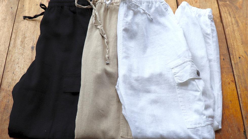 Cargo Linen Pants