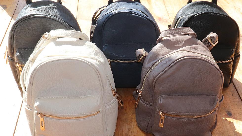 Vegan Leather Mini Backpack