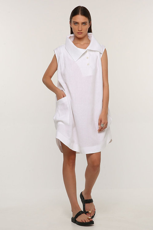 OZAI N KU WHITE TUNIC DRESS