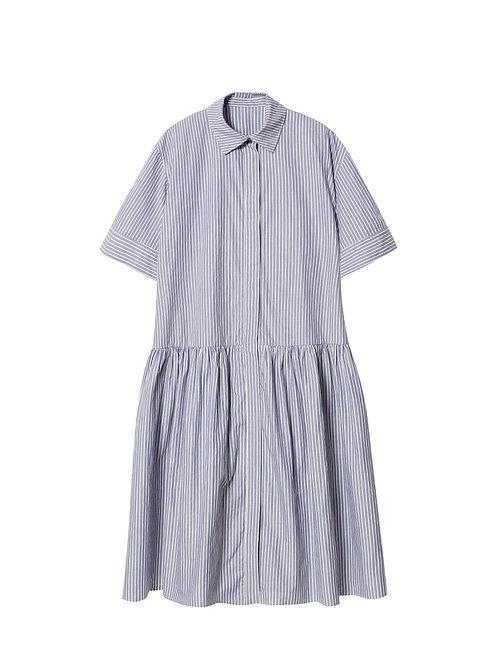 JNBY BLUE SKY STRIP DRESS