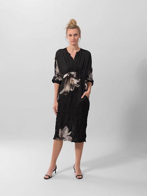 ALEMBIKA MID-NIGHT FLOWER FALL DRESS