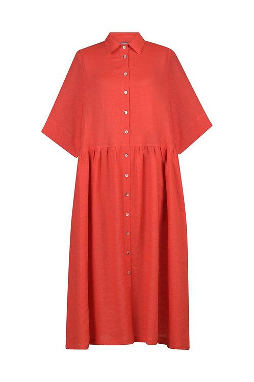 ALEMBIKA ORANGE BUTTON DOWN DRESS