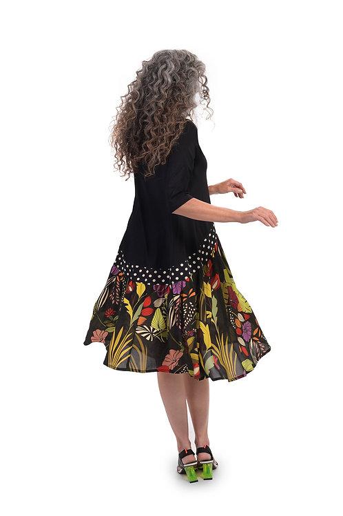 ALEMBIKA JERSEY FLORAL MAXI DRESS