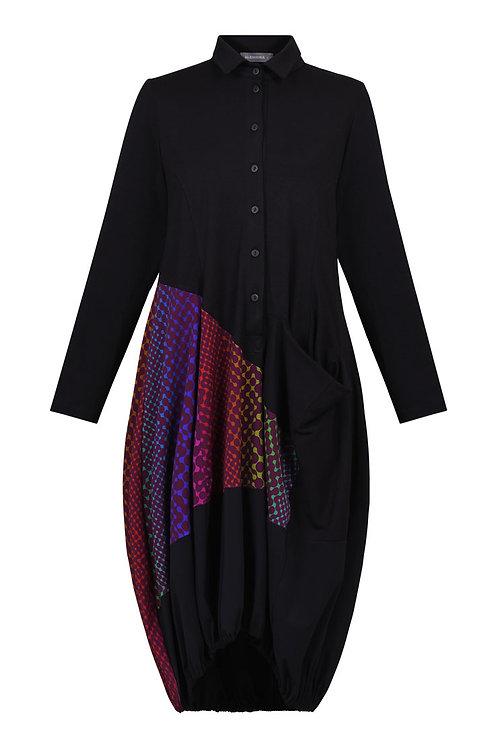 ALEMBIKA BLACK NEON LINK DRESS