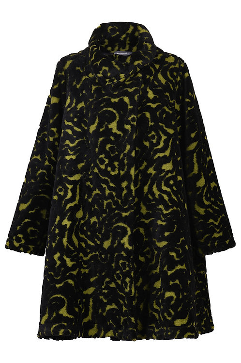 ALEMBIKA POMEGRANTE FALL WINTER KNEE LENGTH COAT