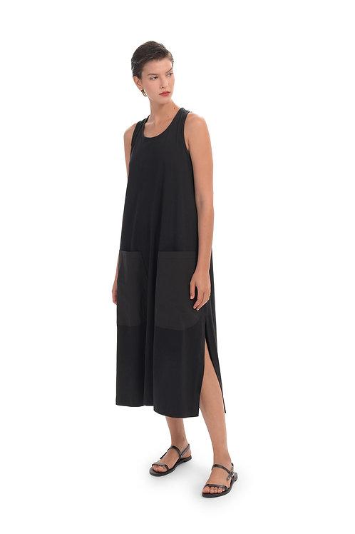 ALEMBIKA BLACK TANK DRESS