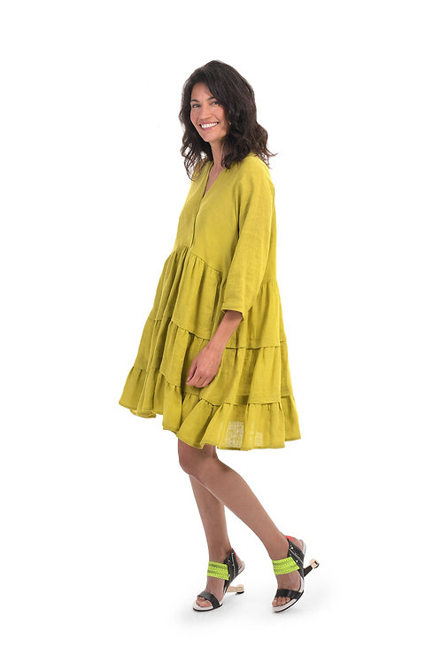 ALEMBIKA YELLOW BABYDOLL DRESS