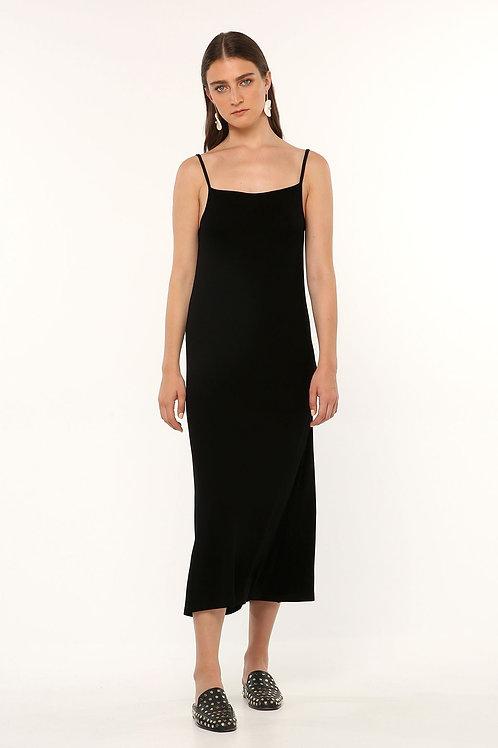 OZAI N KU BLACK CAMISOLE DRESS
