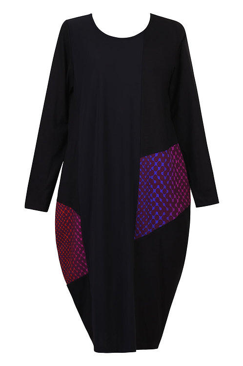ALEMBIKA BLACK LINK NEON LONG SLEEVE DRESS