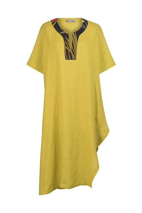 ALEMBIKA YELLOW STONE DRESS