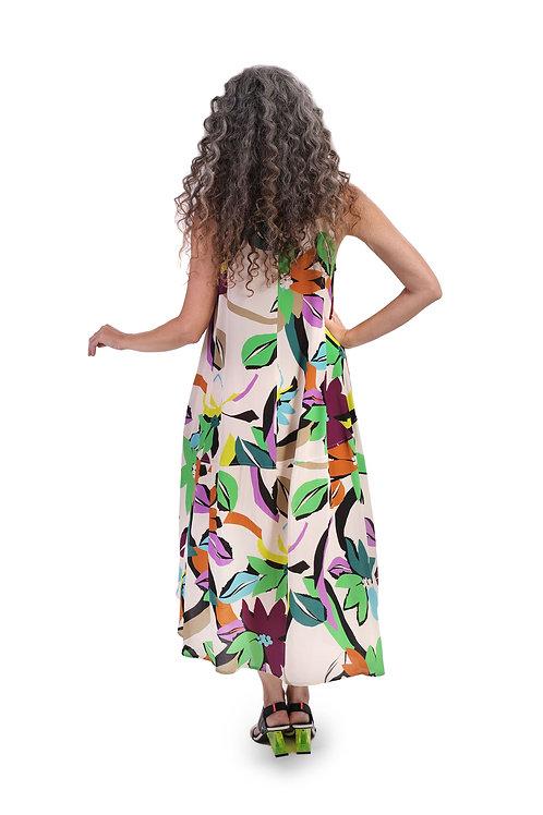 ALEMBIKA TROPICAL FLORAL TANK DRESS