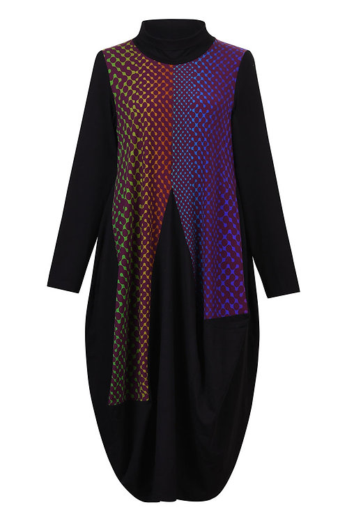 ALEMBIKA NEON LINK HIGH NECK LONG SLEEVE DRESS