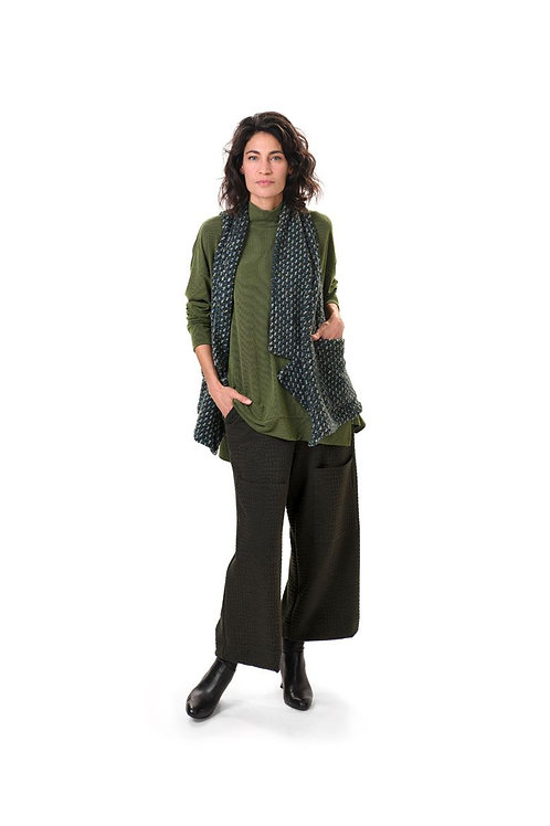 ALEMBIKA GREEN LONG SLEEVE LITE TURTLE NECK PULL OVER TOP
