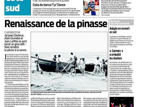 Renaissance de la Pinasse, les médias en parlent...