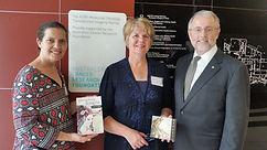 L-R: Briohne Sykes (Scriptwriter), Dee Handyside (Compose) and Professor Ian Brown, Chief Executive of the Australian Cancer Research Foundation