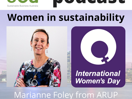 Podcast: Women in Sustainability - Marianne Foley from Arup